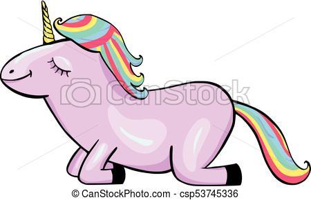 450x290 Unicorn Cartoon Icon Isolated On White Background Vectors