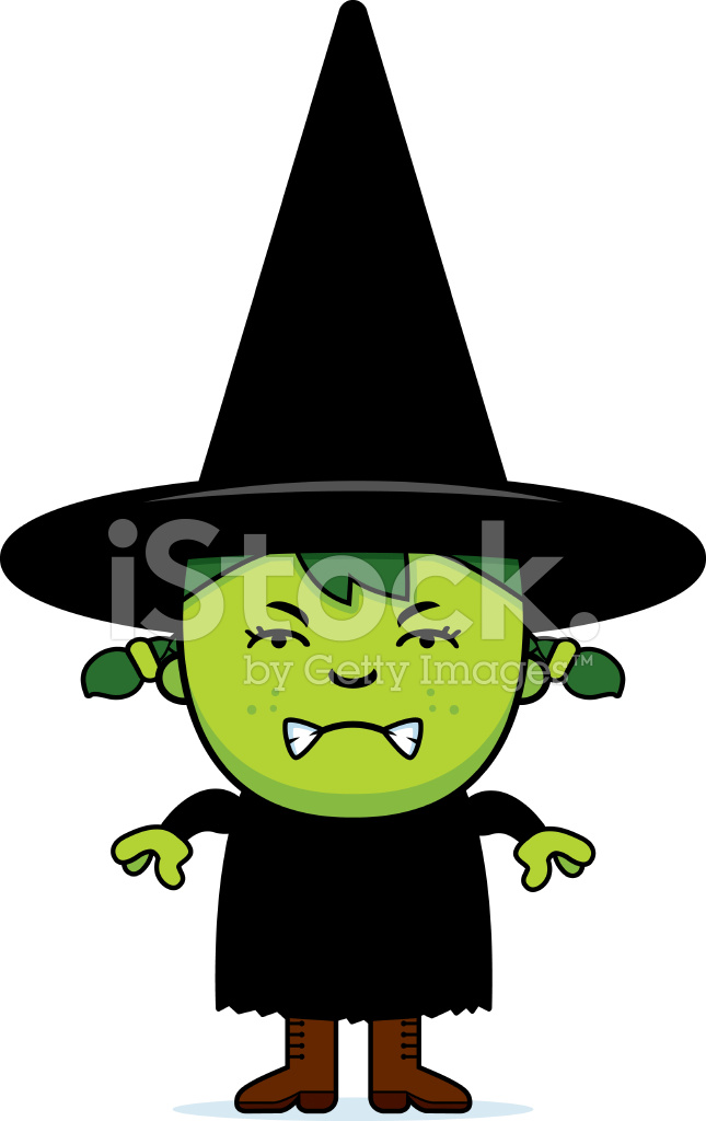 645x1024 Angry Green Witch Stock Vector