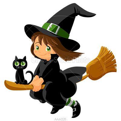 400x400 Pretty Cartoon Witch