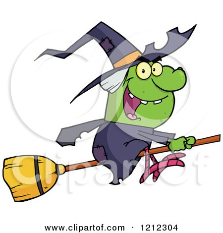 450x470 Clipart Of A Cartoon Fat Green Witch Waving