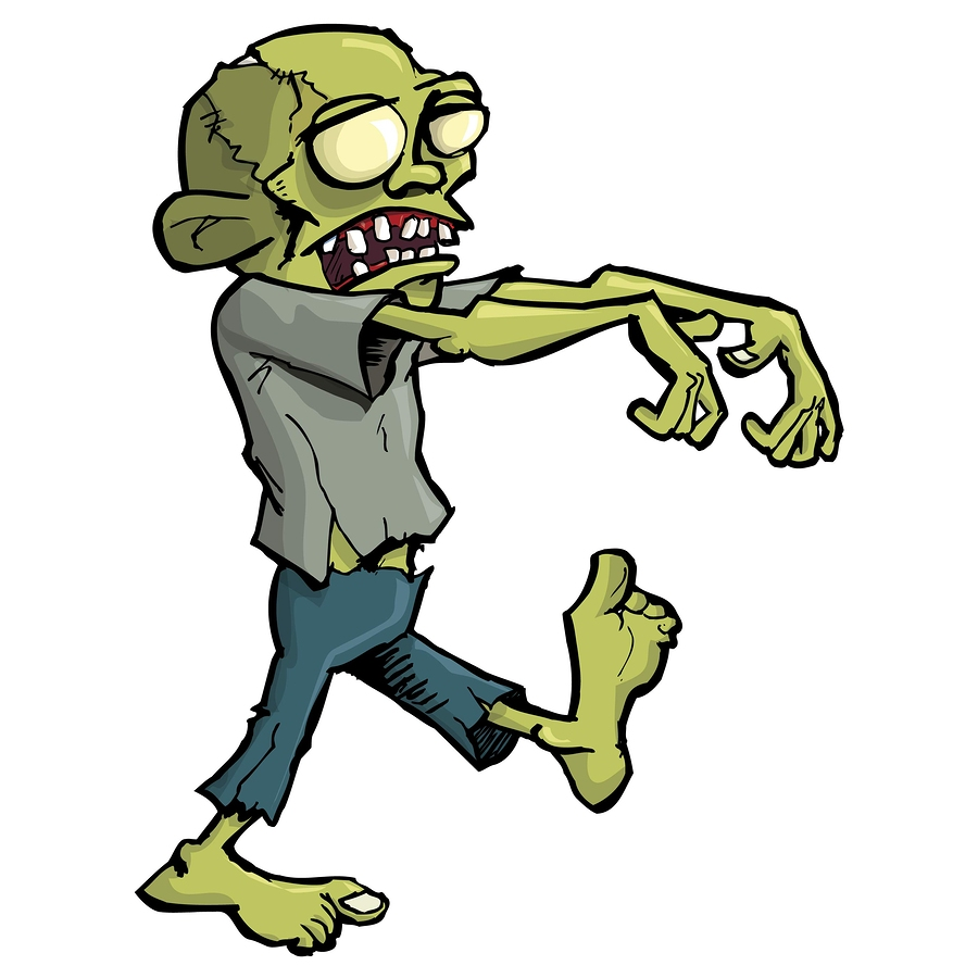 900x900 Cartoon Zombie Isolated On White Through The Scratched Lens