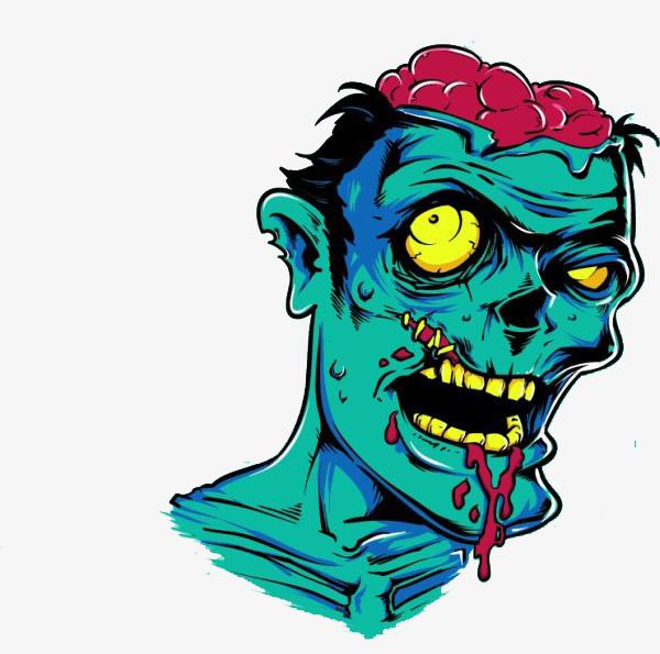 600x595 Horrible Zombie Bite People, Cartoon, Green, Zombie Bite People