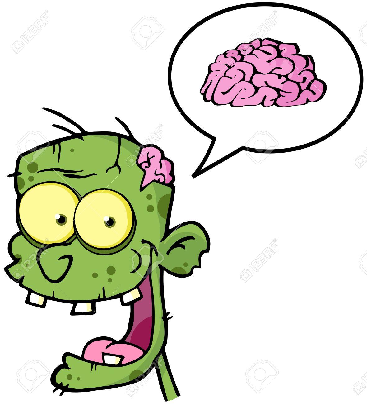 1180x1300 Zombie Brain Clipart