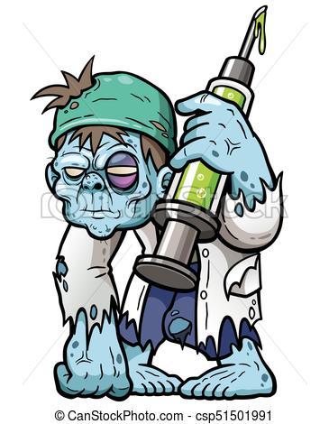 365x470 Zombies. Vector Illustration Of Cartoon Zombie Doctor Eps Vectors