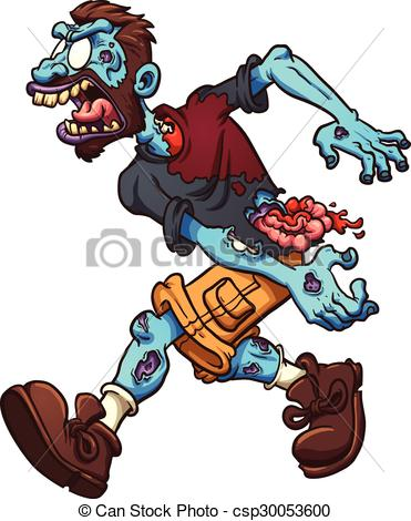 371x470 Angry Cartoon Zombie. Vector Clip Art Illustration With Vector