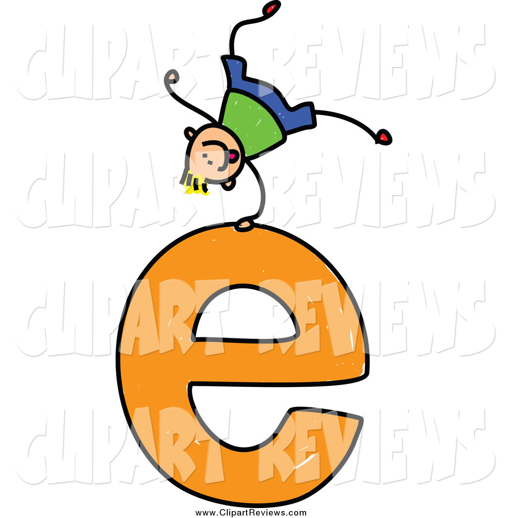 1024x1044 Clip Art Of A Stick Boy Doing A Cartwheel On A Lowercase Letter E