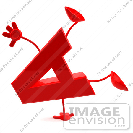 450x450 Royalty Free (Rf) Illustration Of A 3d Red Letter A Character