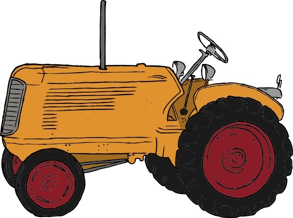 600x447 Drawn Tractor Vector Art