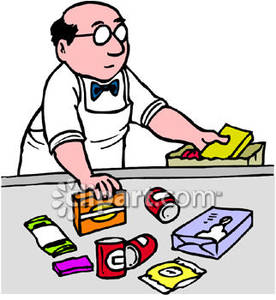 276x300 Grocery Cashier Clipart