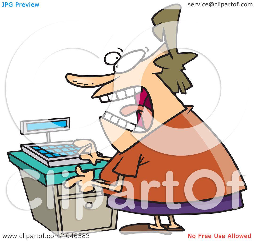 1080x1024 Royalty Free (Rf) Clip Art Illustration Of A Cartoon Female Clerk
