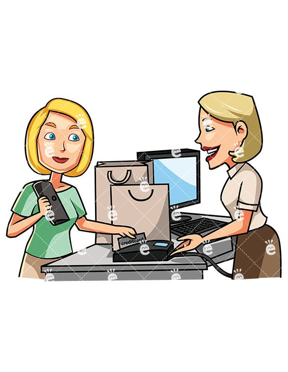 585x755 A Female Consumer Paying With A Credit Card