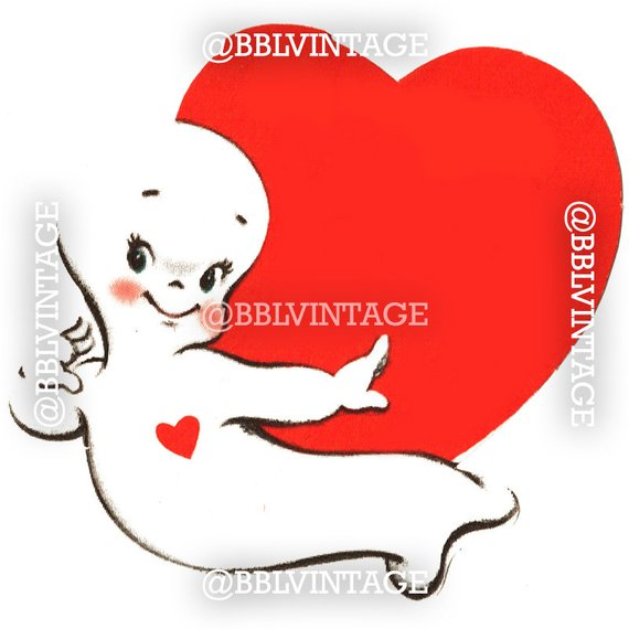 570x570 Vintage Digital Greeting Card Casper The Ghost Halloween