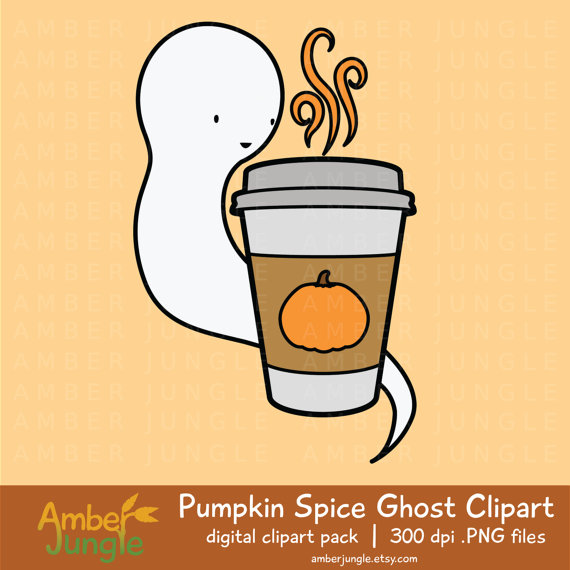 570x570 Pumpkin Spice Ghost Clipart Pumpkin Pie Spice Latte Clip Art