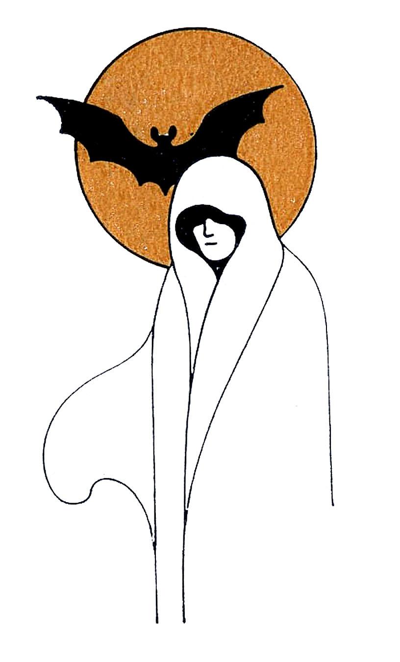 816x1350 Charming Ideas Clipart Ghost Vintage Halloween Clip Art Ladies