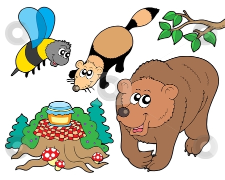 450x361 Free Clipart Of Forest Animals Singing Holiday Songs