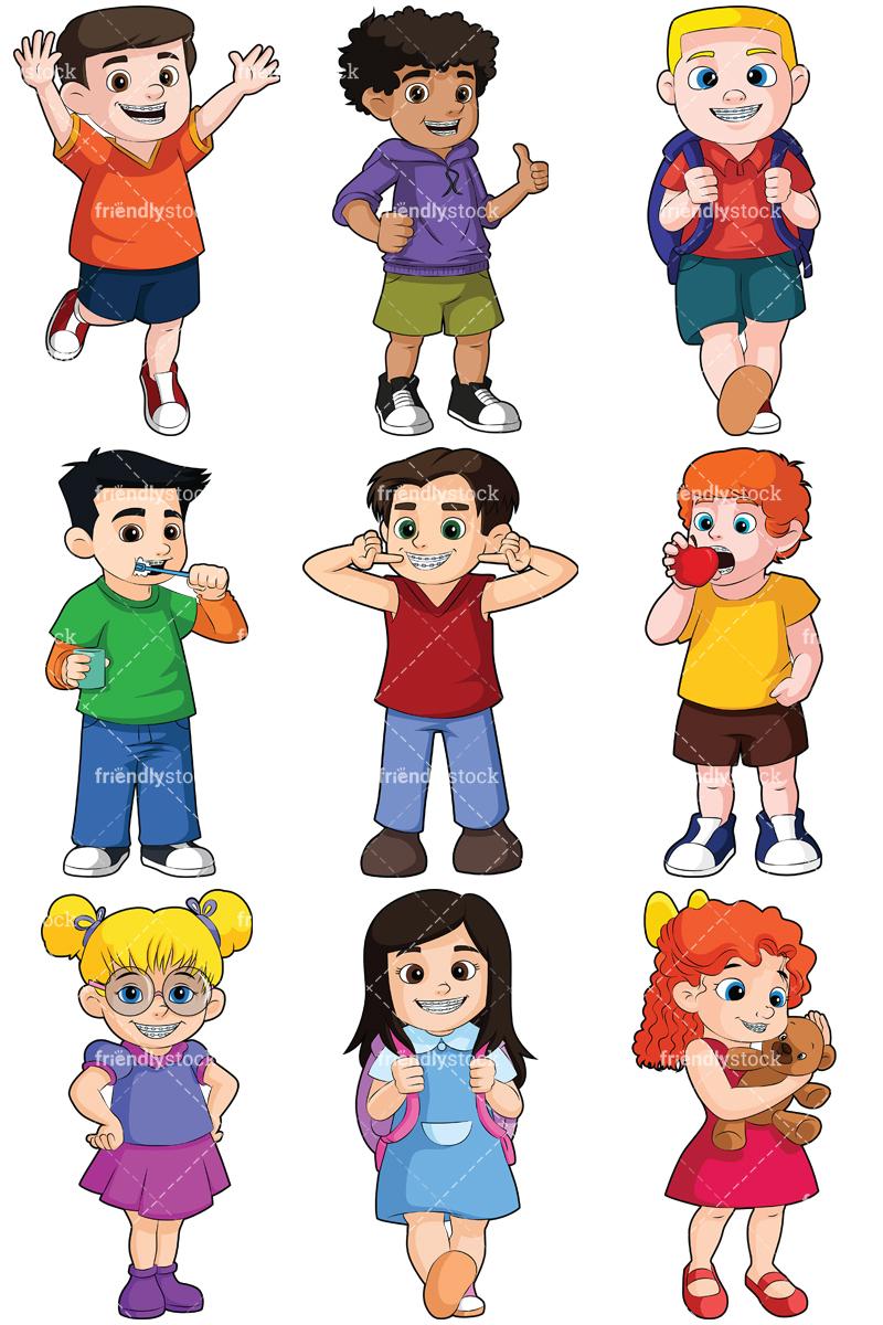 800x1200 Friendly Kids Clipart