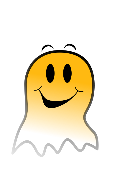 424x600 Ghost Face Clipart