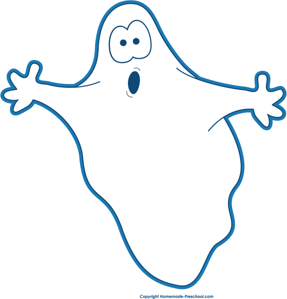 570x595 Ghost Clipart Black And White