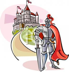 289x300 A Knight In Plate Mail Guarding A Castle