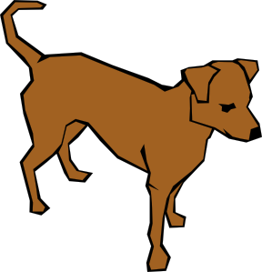 288x299 Dog 06 Drawn With Straight Lines Clip Art