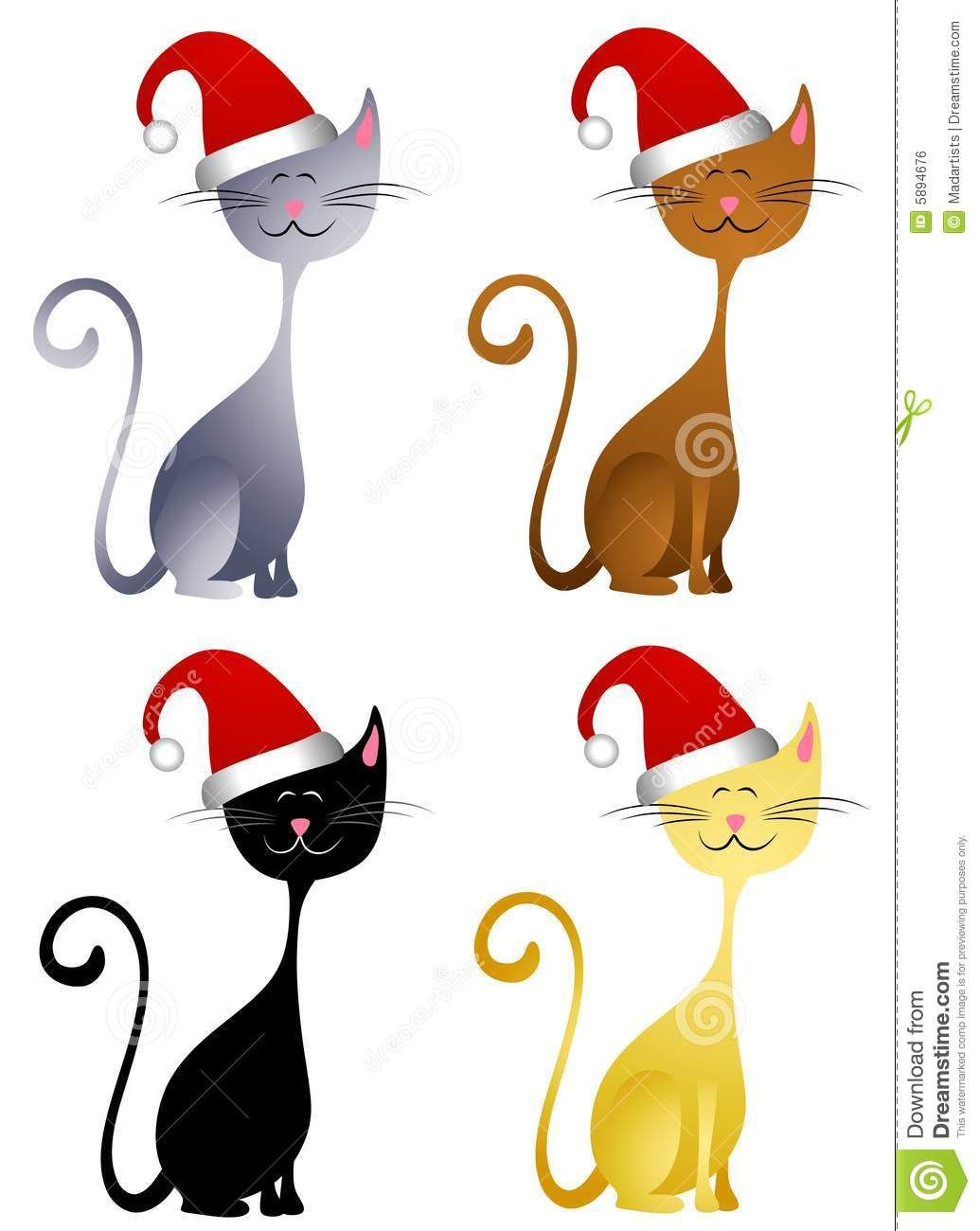 1035x1300 Merry Christmas Cat Clip Art Images On Page 0 Yanhe Clip Art