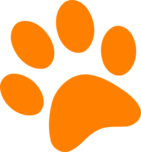 552x596 Dog And Cat Paw Prints Clip Art Clipartfest