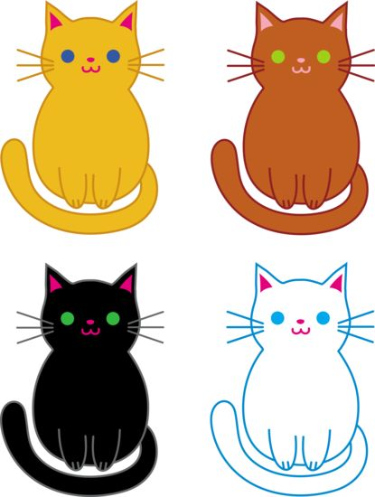 Cat And Kitten Clipart