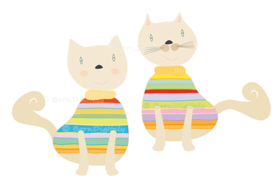 570x379 Cats Clip Art Kitty Digital Clipart Kitten Nursery Clipart