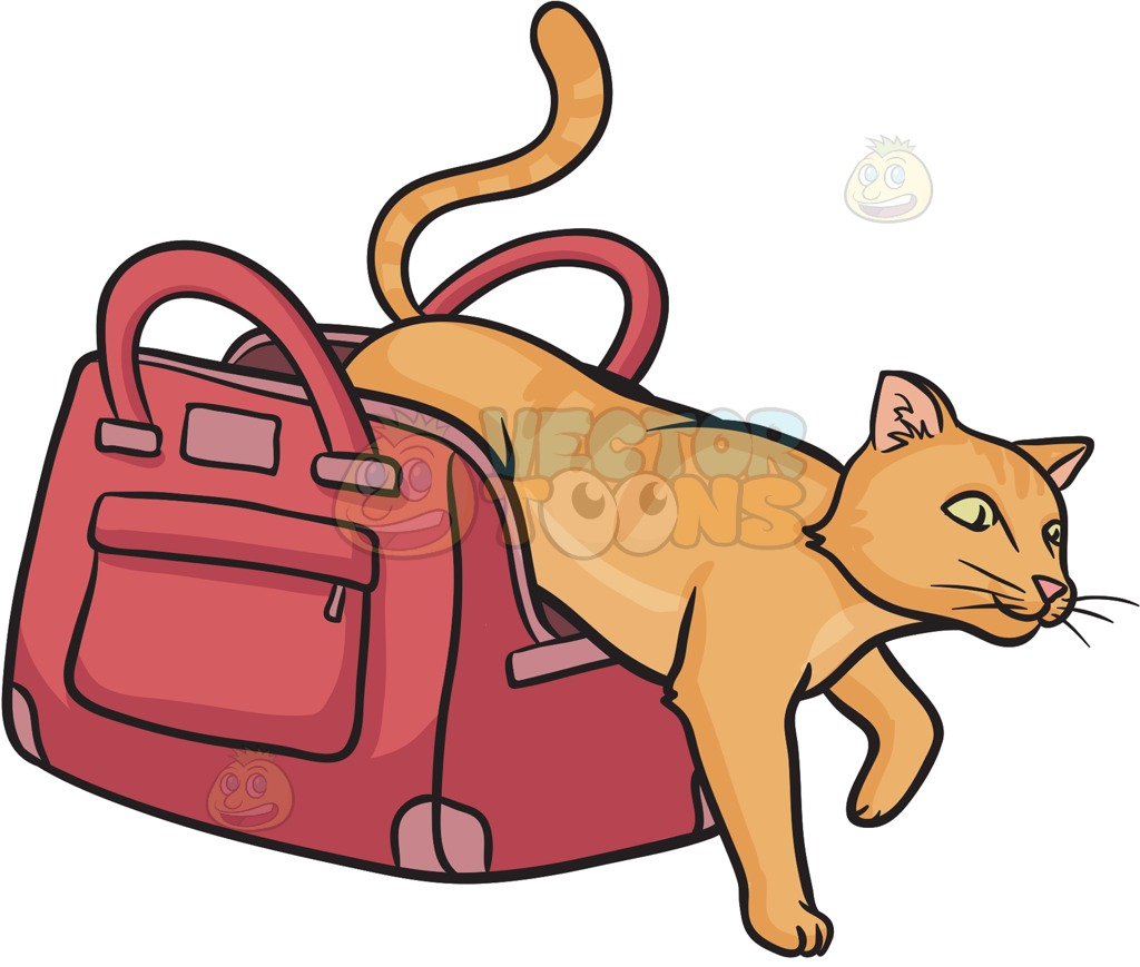 1024x869 Let The Cat Out Of The Bag Cartoon Clipart Vector Toons
