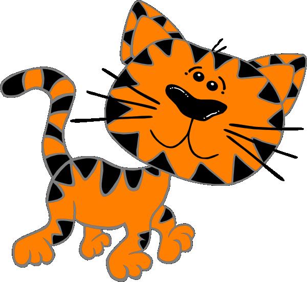 600x551 Cat Walking Clip Art