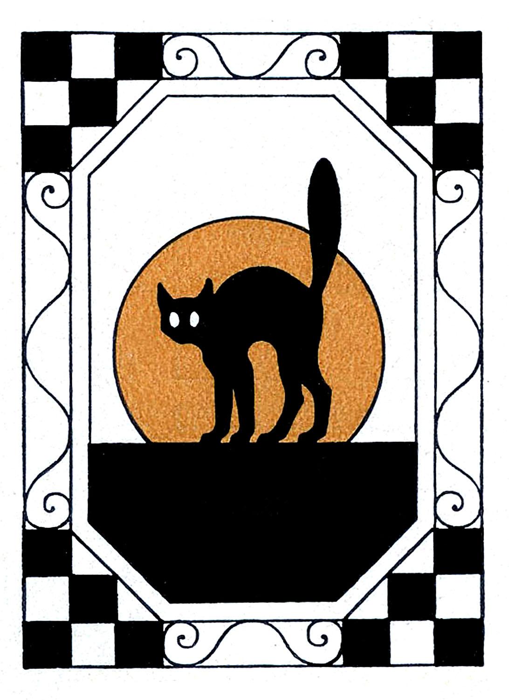 1092x1500 Halloween Black Cat Clipart