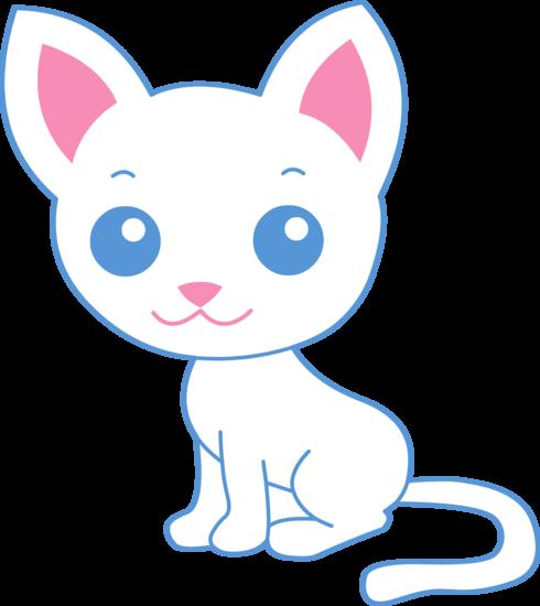 490x550 Cute Cat Clipart Cute White Kitty Cat Free Clip Art Animations