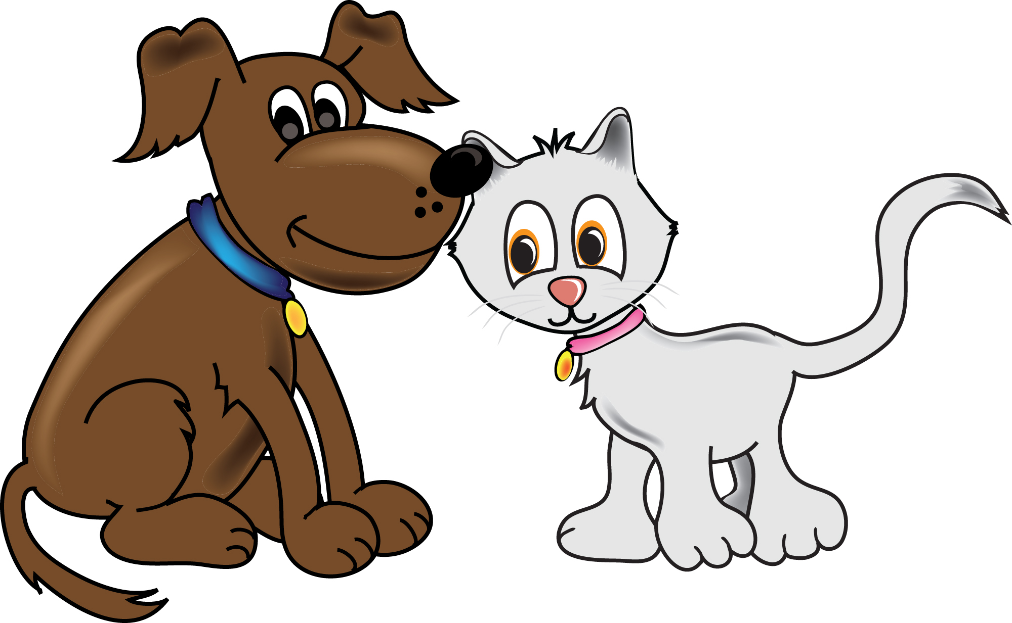 2000x1233 Clipart Pictures Of Cats And Dogs Dog Cat Clip Art Sportekevents