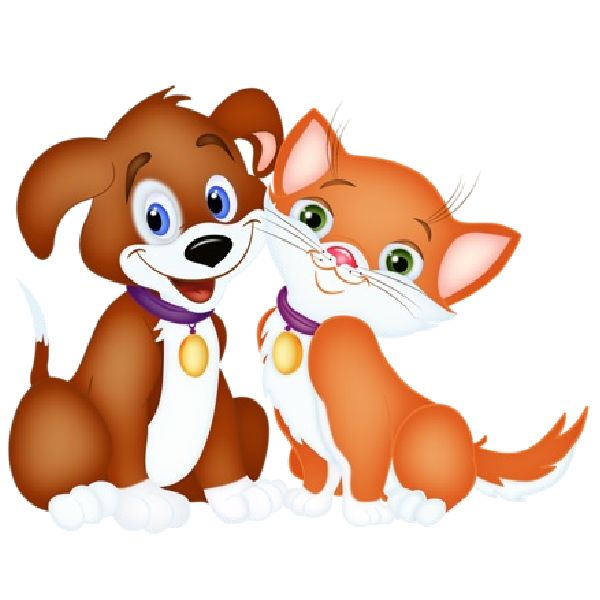 600x600 Collection Of Dog And Cat Friends Clipart High Quality, Free