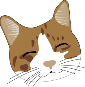 294x300 Happy Cat Face Clip Art