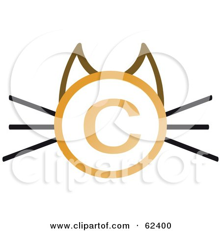 450x470 Royalty Free (Rf) Clipart Illustration Of A Copyright Symbol Cat