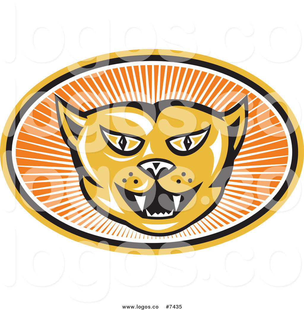 1024x1044 Royalty Free Clip Art Vector Logo Of An Angry Cat Face In An Oval
