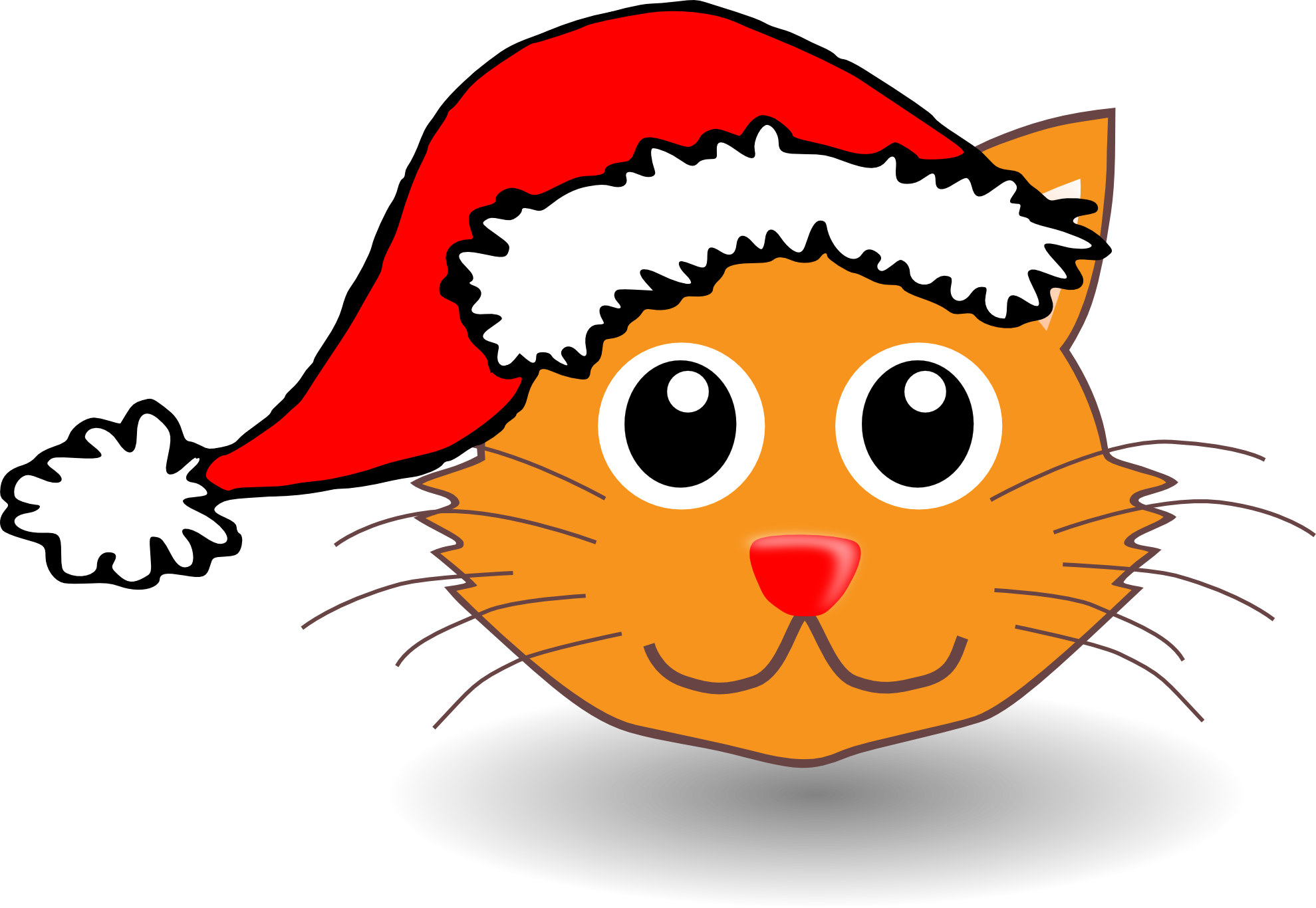 1979x1366 Cartoon Cat Face Clipart