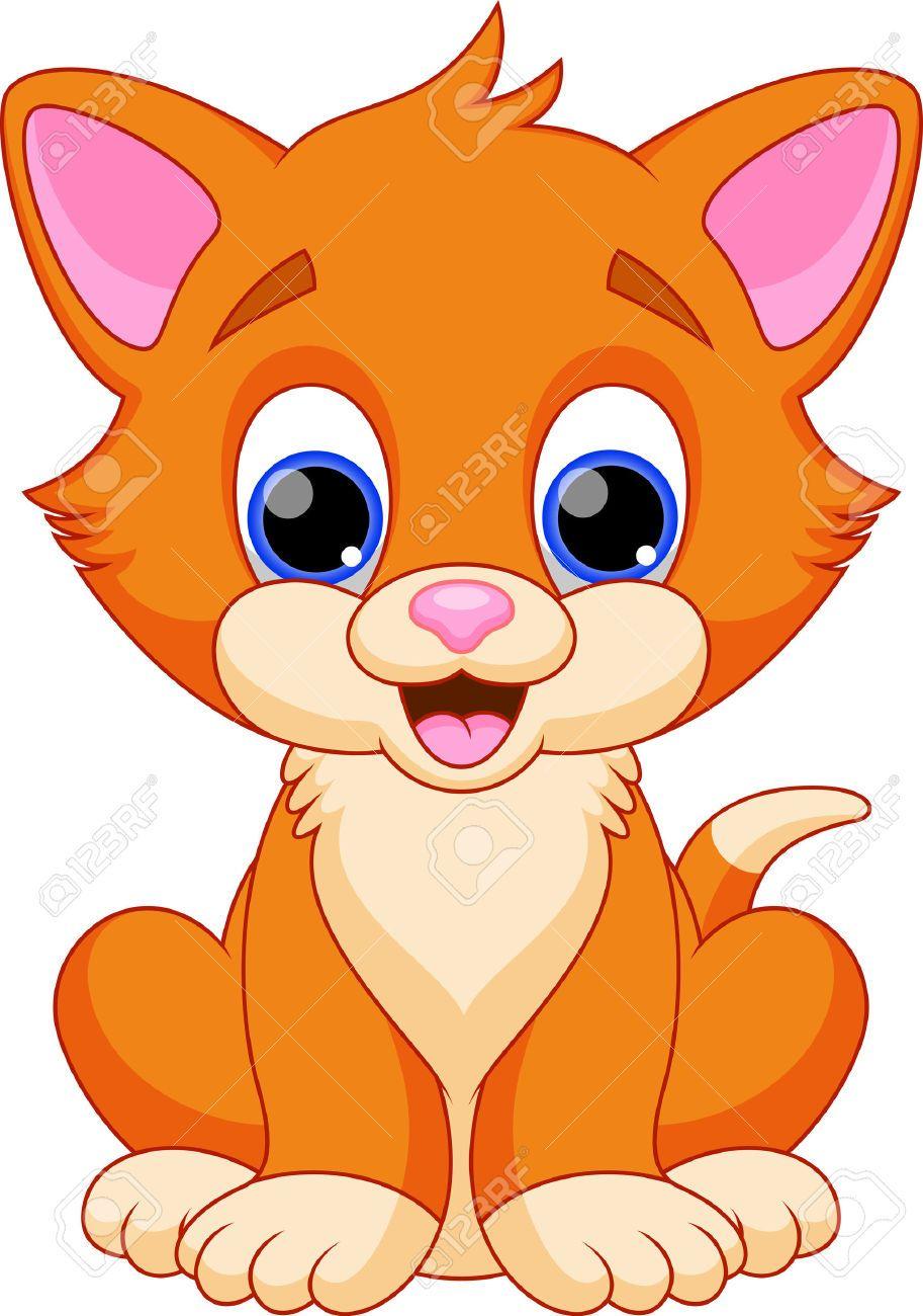 913x1300 Divertidos Dibujos Animados Del Gato Ilustraciones Vectoriales