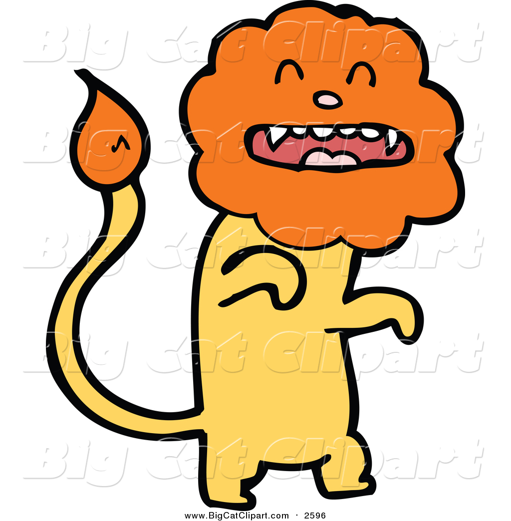 1024x1044 Big Cat Cartoon Vector Clipart Of A Yellow Male Lion
