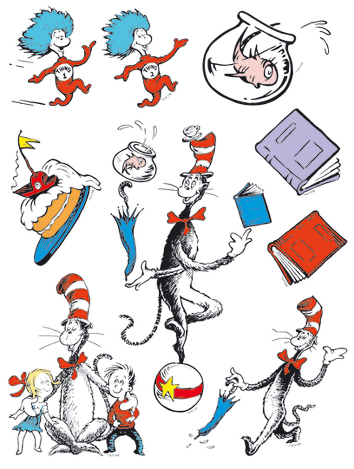 1207x1600 Cat In The Hat Clip Art Images Illustrations Photos