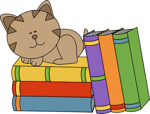 500x381 Cat Sleeping On A Stack Of Books Clip Art Book Clipart My Cute