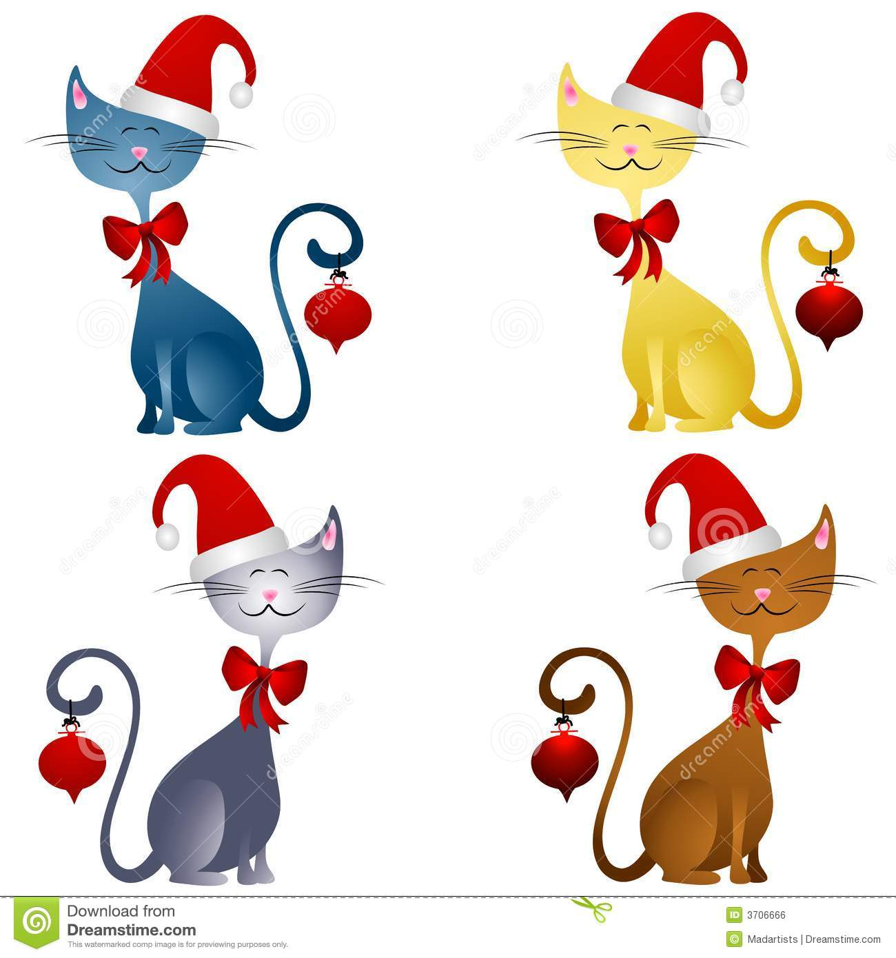 1300x1390 Cat Christmas Clip Art Free Clipart