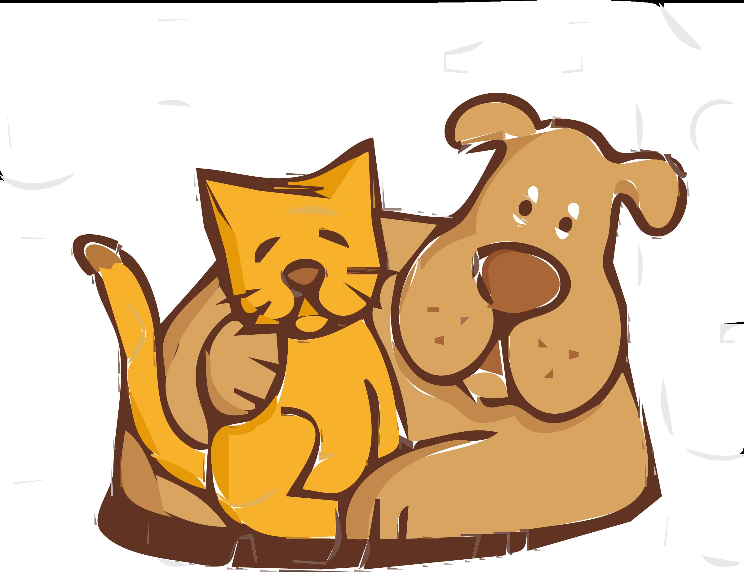 2400x1891 Clip Art Cat And Dog Clip Art