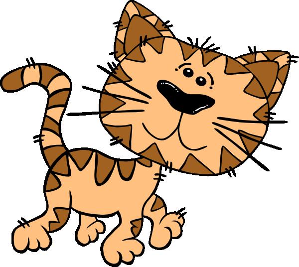 600x536 Cartoon Cat Walking Clip Art Clipart Panda
