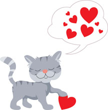 216x220 Valentine's Day Clipart Cat