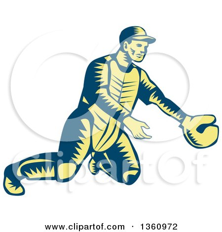 450x470 Royalty Free (Rf) Baseball Catcher Clipart, Illustrations, Vector