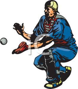 263x300 A Catcher Catching A Baseball