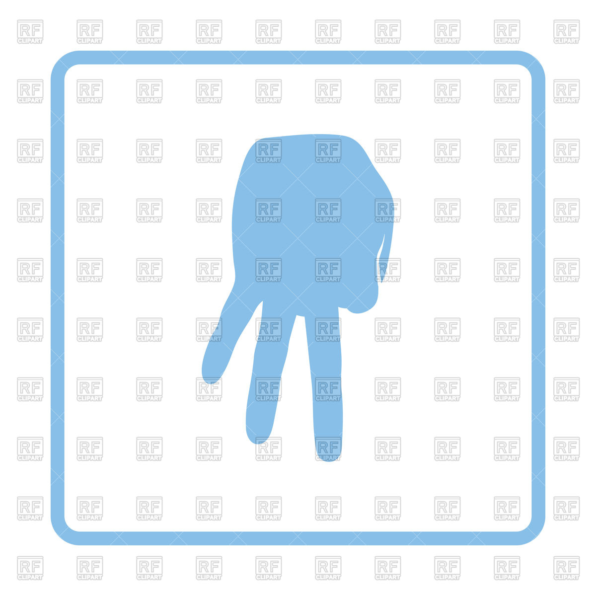 1200x1200 Blue Frame Design Of Baseball Catcher Gesture Icon Royalty Free