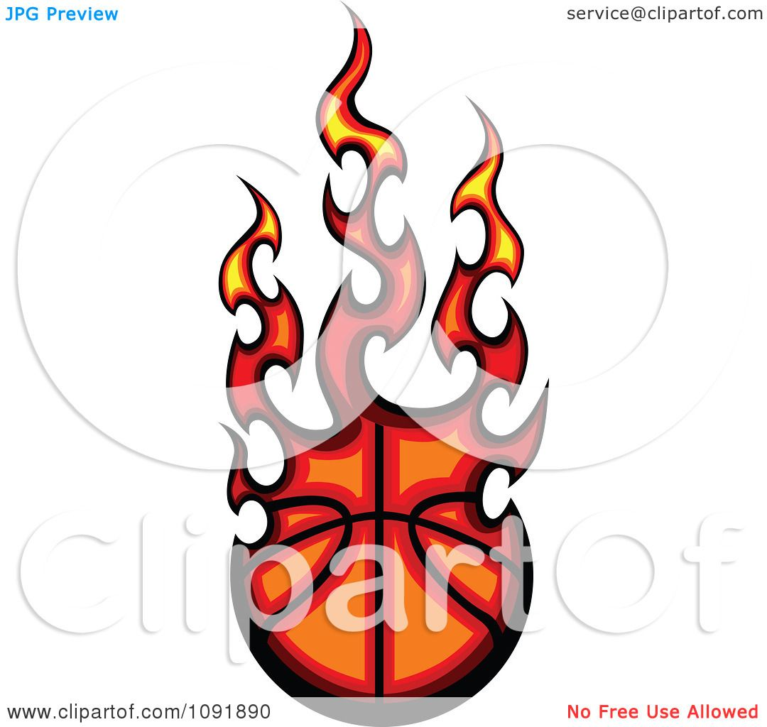 1080x1024 Clipart Fire Engulfed Basketball